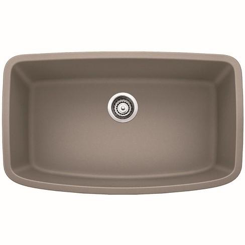"Blanco 441772 Valea 32-1/4"" Silgranit Granite Composite Undermount Super Single Bowl Kitchen Sink"