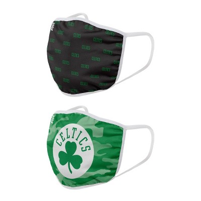 NBA Boston Celtics Youth Clutch Printed Face Covering - 2pk