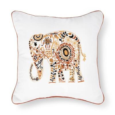 Elephant Embroidered Pillow - Xhilaration™