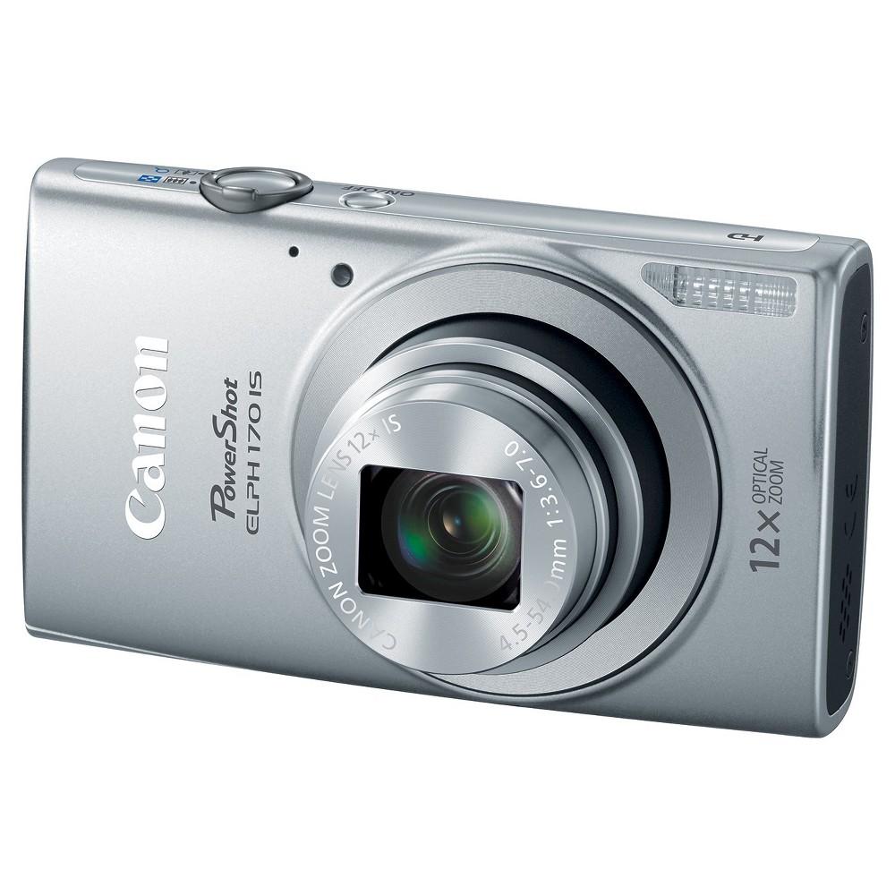 Canon 0127C001 PowerShot Elph 170 IS 20MP Digital Camera - Silver