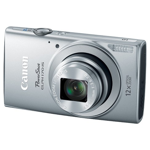 Canon 0127C001 PowerShot ELPH 170 IS 20MP Digital Camera - Silver - image 1 of 4