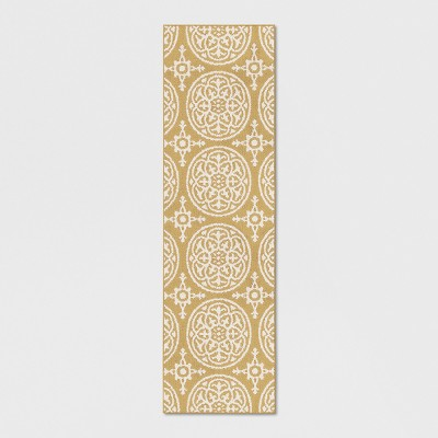 Yellow Medallion Tufted Runner 2'X7' - Threshold™