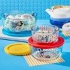 Pyrex 6pc Round Decorated Glass Food Storage Set - Mickey Mouse The True Original - image 3 of 4
