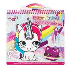 Fashion Angels Unicorn Fantasy Sketch Portfolio Set Target