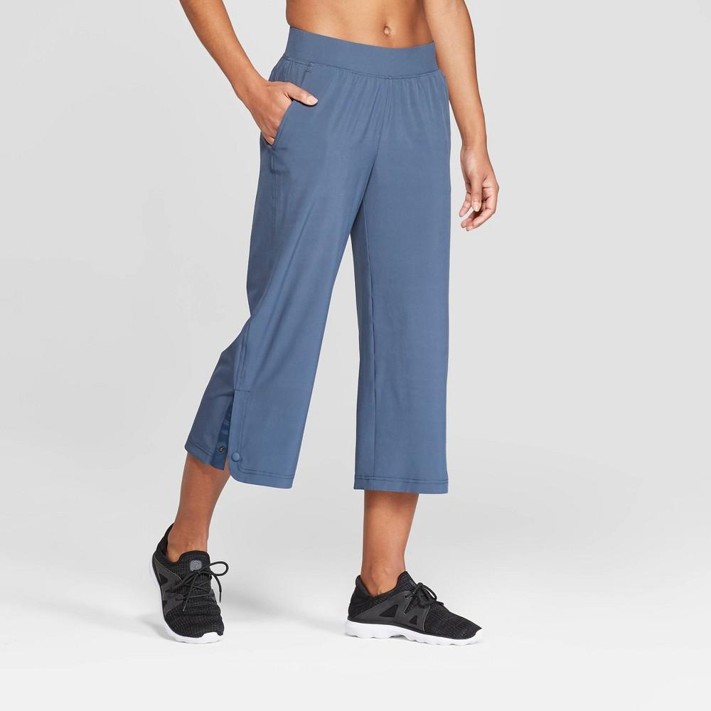Women's Woven Wide Leg Crop Mid-Rise Pants - C9 Champion Gray Blue XS, Grey Blue