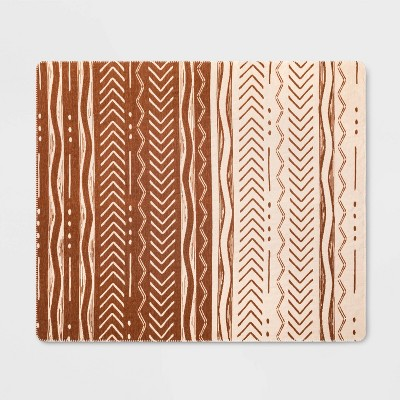 Chenille Woven Jacquard Throw Blanket Brown/Cream - Opalhouse™