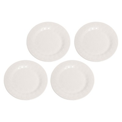 C&F Home Snowflake Border Salad Plate Set of 4