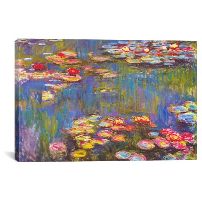 Water Lilies, 1916 by Claude Monet Canvas Print