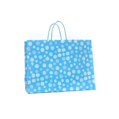 Large Gift Bag Bubble Confetti Blue - Spritz™