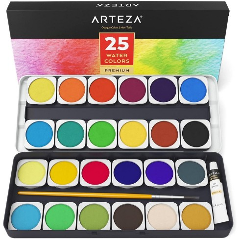 ARTEZA Watercolor Paint, Opaque Colors, Set of 25 - image 1 of 4