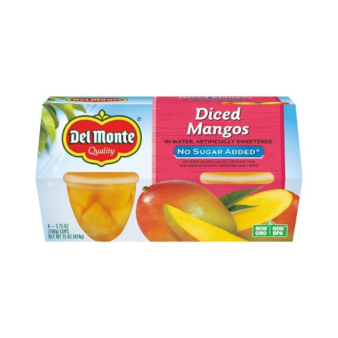 Del Monte No Sugar Added Diced Mangos Fruit Cups - 3.75oz/4ct - image 1 of 1