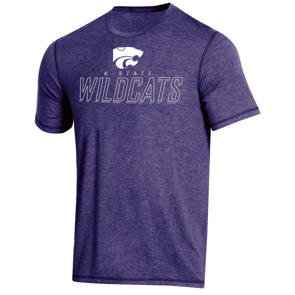 NCAA Men's Short Sleeve Poly T-Shirt Kansas State Wildcats - XL, Multicolored