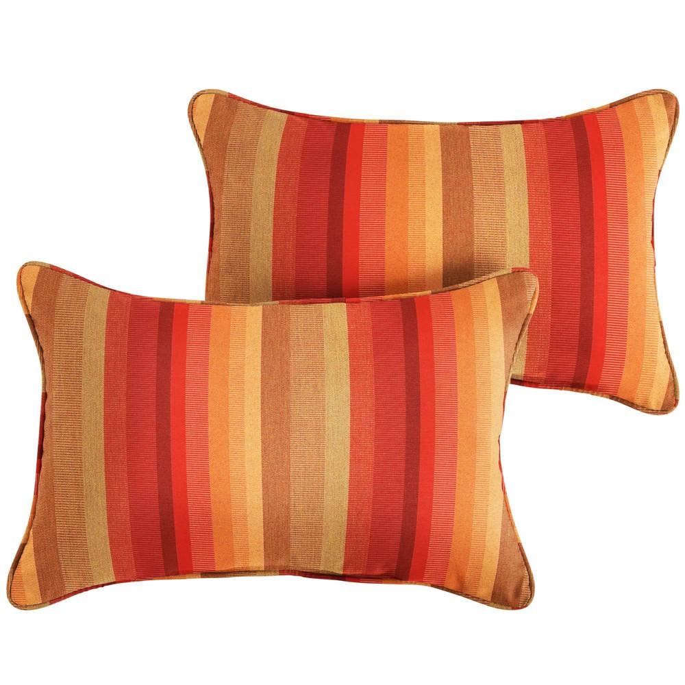 Image of Sunbrella 2pk Astoria Sunset Lumbar Outdoor Throw Pillows