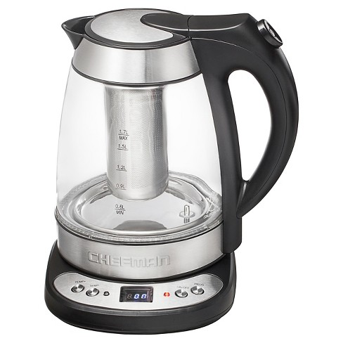 chefman electric precision kettle stainless steel target