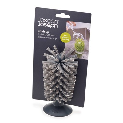 Joseph Joseph Brush-up In-sink Brush with Suction Cup - Gray