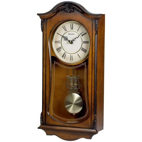 Bulova Clocks C3542 Cranbrook Wall Mount Analog Wooden Chiming Clock, Brown - image 1 of 2