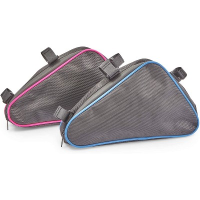 Okuna Outpost 2 Pack Bike Saddle Bags, Waterproof Bicycle Bags for Bicycle Rear Rack (11.3 x 6.5 in)