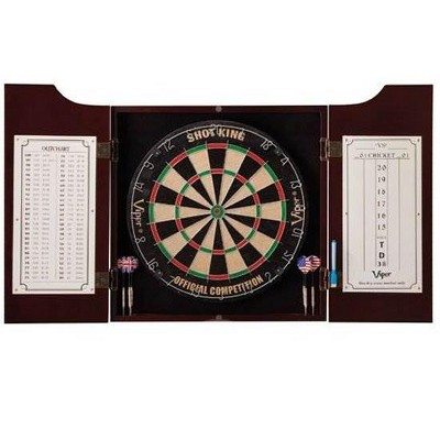 GLD Viper Hudson All-In-One Dart Board & Cabinet w/ Dry-Erase Board | 40-0219