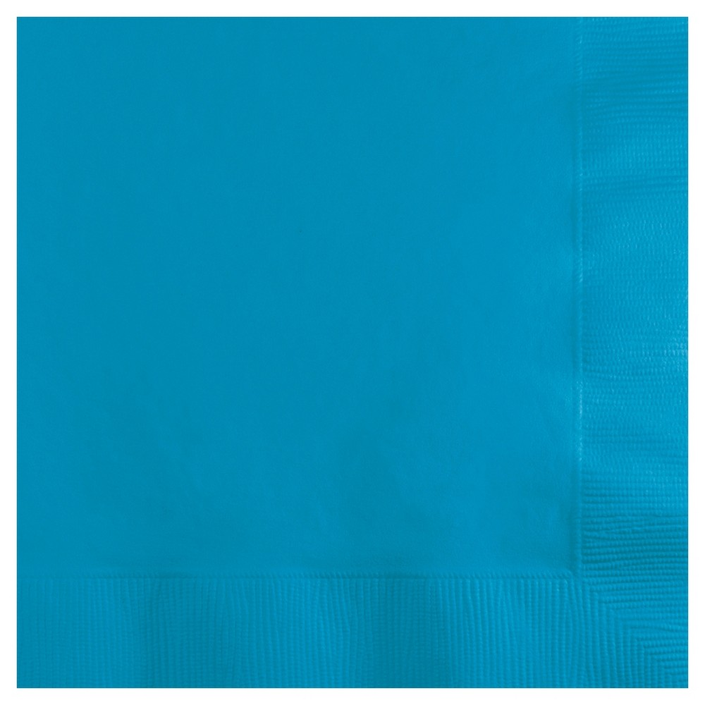 Image of 50ct Turquoise Blue Cocktail Beverage Napkins
