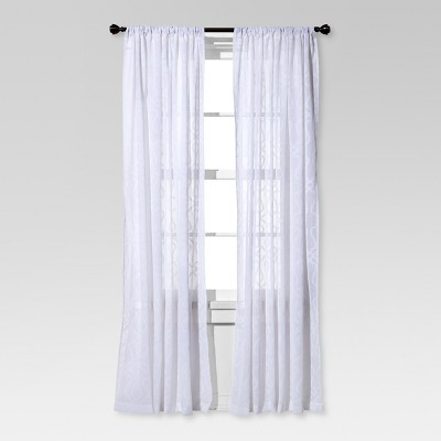 Clipped Sheer Curtain Panel White - Threshold™