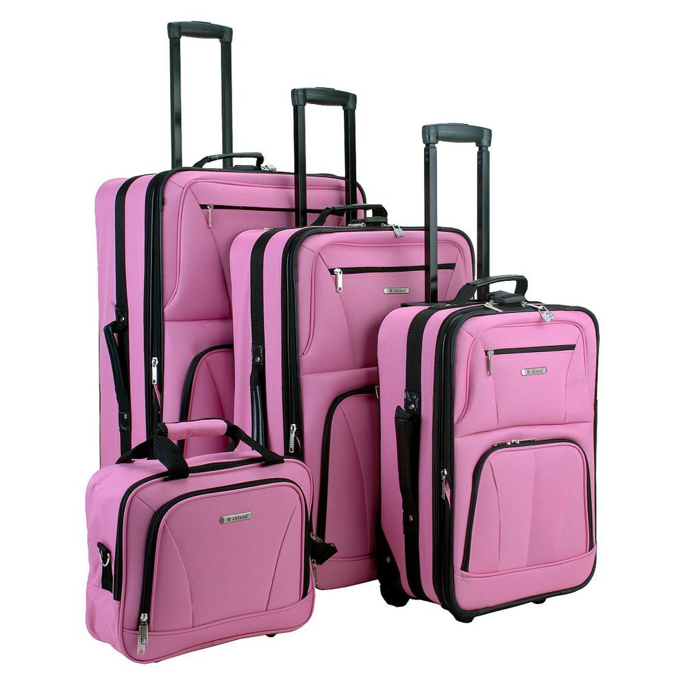 Rockland Journey 4 Pc Expandable Luggage Set Pink
