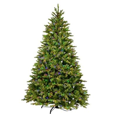 "Vickerman 4.5' x 34"" Porthill Pine Artificial Christmas Tree, Multi-colored Dura-lit LED Lights"