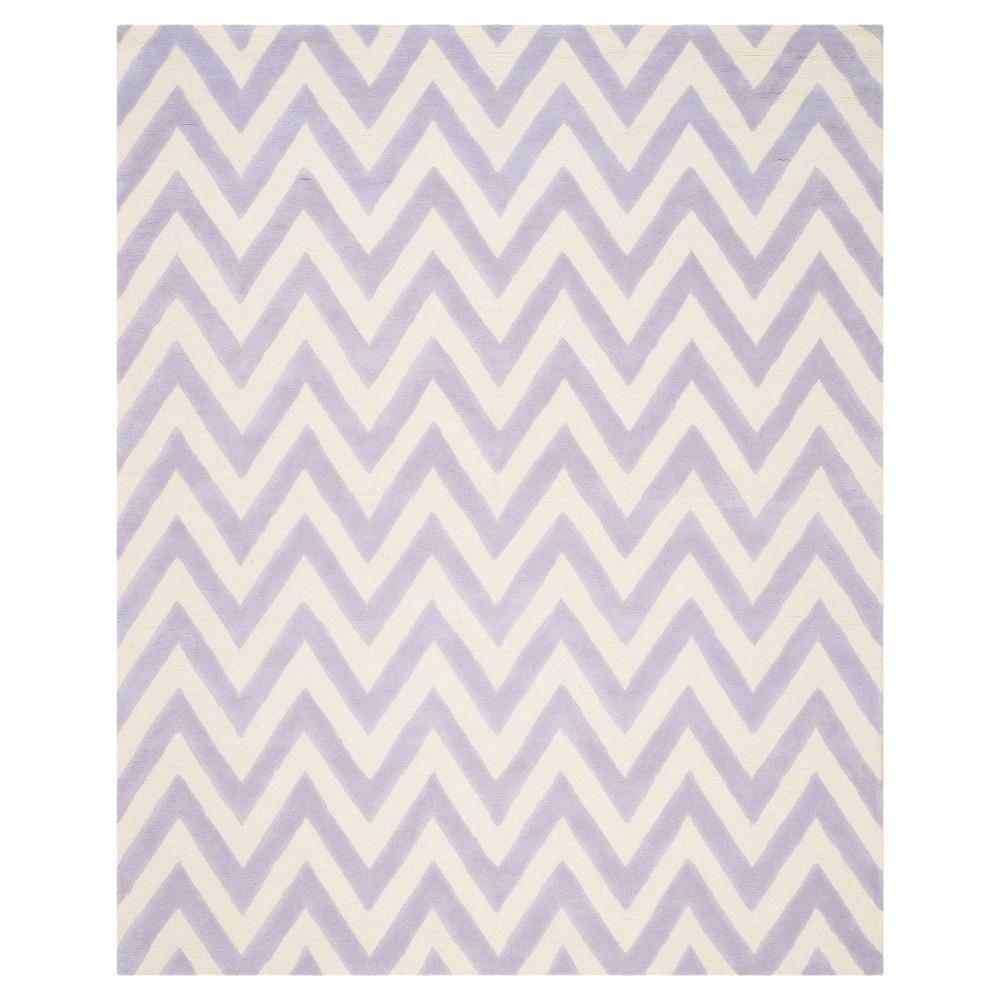 Dalton Textured Rug - Lavender / Ivory (8' X 10') - Safavieh, Purple/Ivory