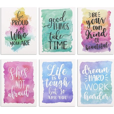 12pcs Paper Cardstock Decorative Double Pocket Folders A4 Size, 12x9.25 in, Assorted Funny Cactus Succulent Design with Inspirational Quotes