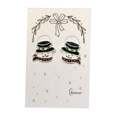 "Jewelry 0.75"" Snowman Earring Frosty Christmas  -  Costume Jewelry"