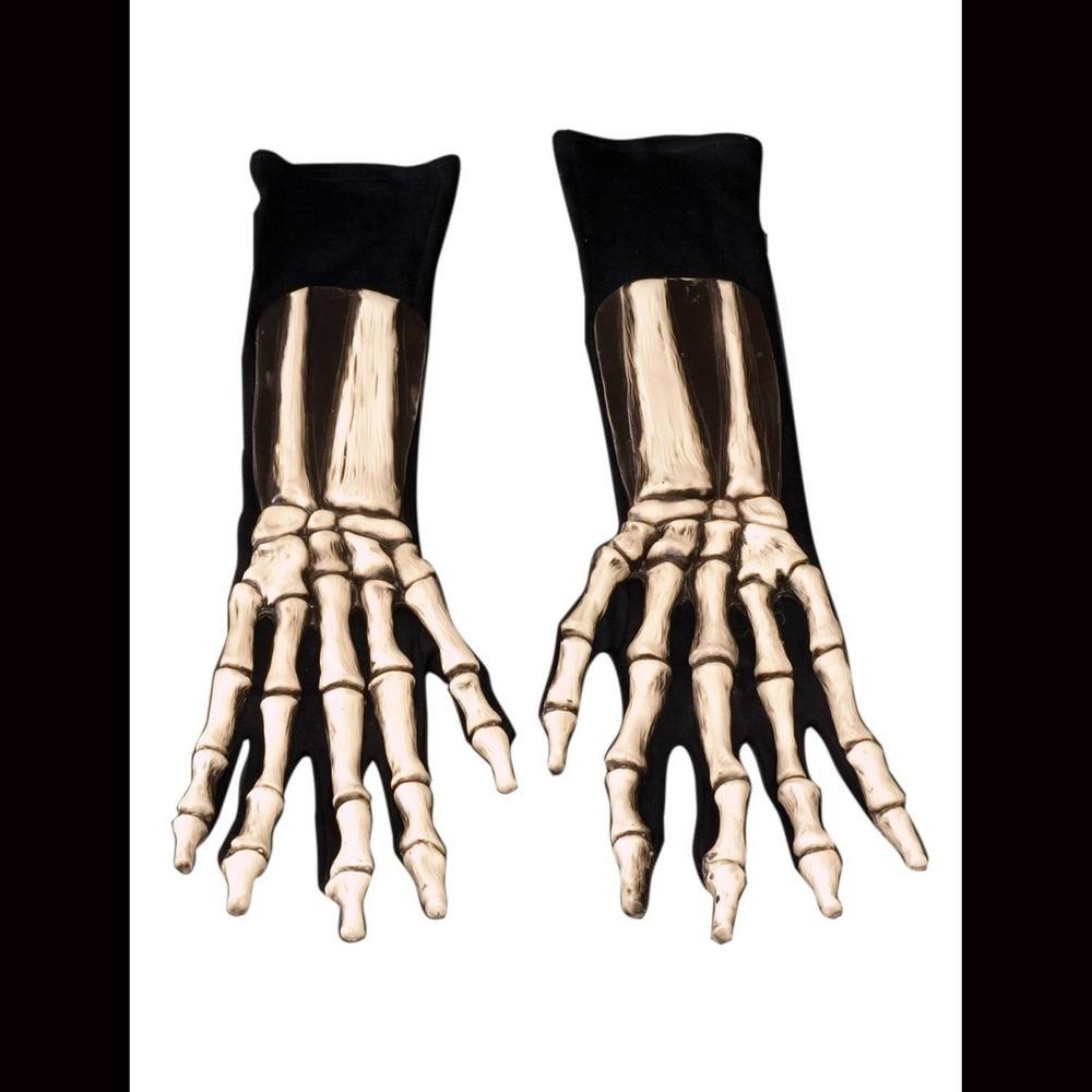 Image of Halloween Skeleton Gloves Costume Hand wear, Adult Unisex