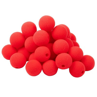 Juvale 50-Pack Red Clown Nose 2-inch for Halloween Costume Circus Carnival Party Supplies
