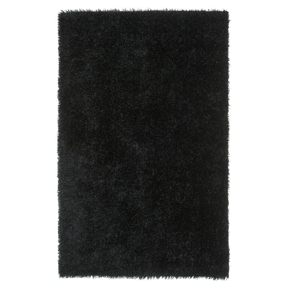 Black Solid Shag/Flokati Tufted Accent Rug - (3'X5') - Safavieh