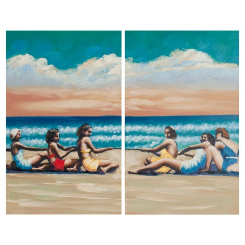 Swim Competition Diptych Wall Art - Safavieh® - image 1 of 2