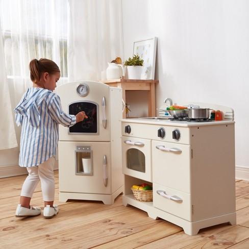 Teamson Kids Retro Wooden Play Kitchen White 2pc Target