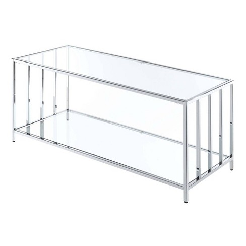 Mission Chrome Coffee Table Chrome - Breighton Home - image 1 of 3