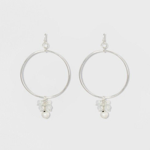 Glitzy And Diamond Dust Ball Earrings A New Day Silver