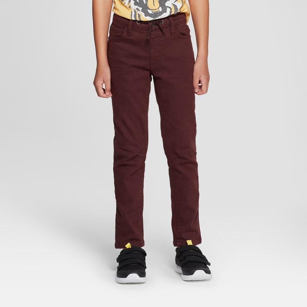 Boys' Skinny Fit Jeans - Cat & Jack Maroon 10, Red