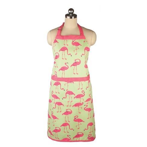 Cooking Apron Flock of Flamingos Print - Mu Kitchen - image 1 of 3