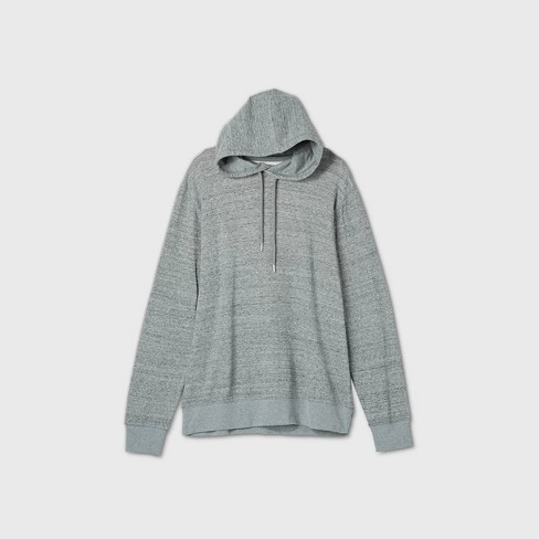 Men's Big & Tall Standard Fit Light Weight Pullover Hoodie - Goodfellow & Co™ Light Gray - image 1 of 1