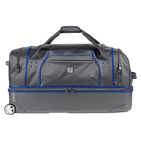 93d1750367 FUL Workhorse Rolling Duffel - Black And Blue (30