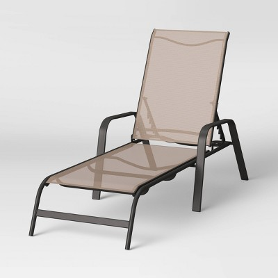 Sling Stacking Patio Chaise Lounger - Tan - Room Essentials™