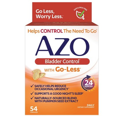 AZO Bladder Control with Go-Less, Helps Reduce Occasional Urgency - 54ct