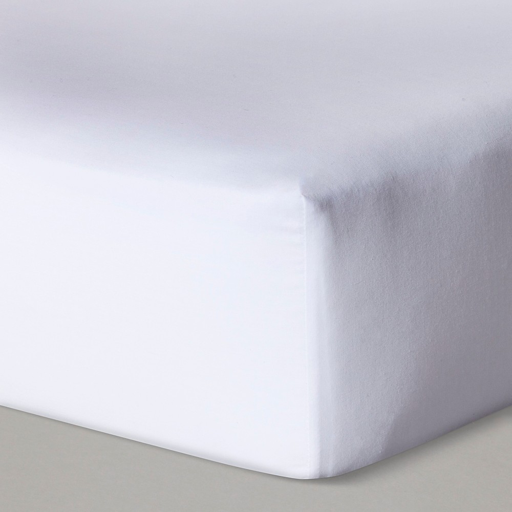 Fitted Crib Sheet Solid - Cloud Island White