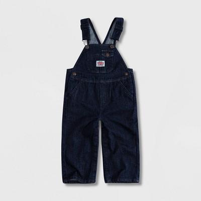 Levi's® Baby Denim Shortalls - Rinse 3M