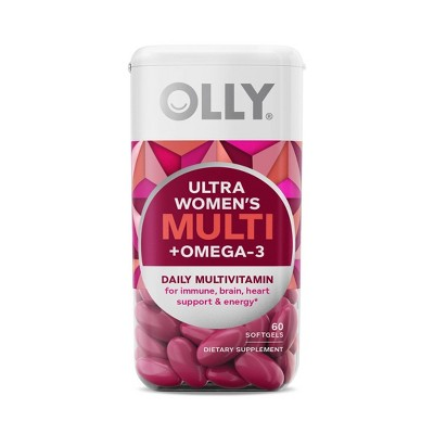 Olly Ultra Strength Women's Multi + Omega-3 Daily Vitamin Softgels - 60ct