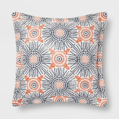 Blue And Coral Medallion Throw Pillow - Threshold™