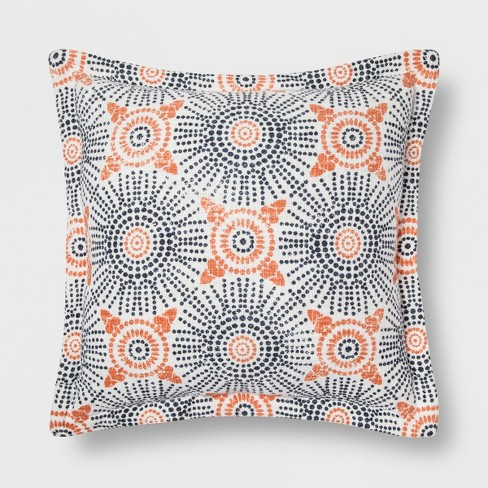 Blue And Coral Medallion Throw Pillow - Threshold™ - image 1 of 1