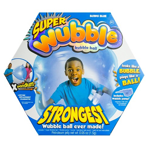 The Amazing SUPER Wubble Bubble Ball with Pump - Blue - image 1 of 2