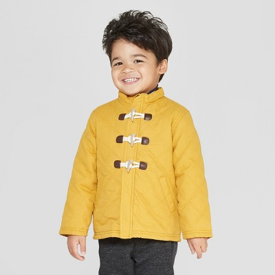Genuine Kids from OshKosh Toddler Boys' Long Sleeve Quilted Barn Jacket - Mustard Yellow 5T