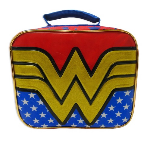 Wonder Woman Lunch Bag - Red/Blue - image 1 of 4